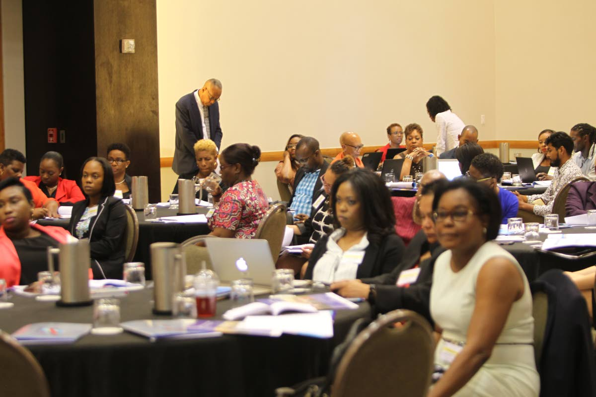 Participants in Monday's 6th Meeting of the National AIDS Programme Managers and Key Partners at the Hyatt Regency,  Port of Spain.