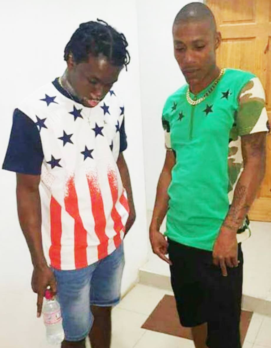 """DEAD: Nkosi """"Moby"""" Maitland, left, and Obika Roberts killed in a shootout with police in Malick yesterday."""