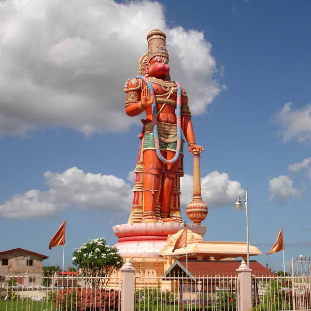 Hanuman murti at the Dattatreya Yoga Centre in Waterloo, Carapichaima.