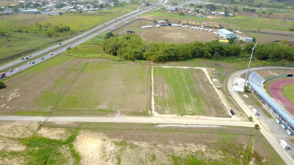 The training pitches next to the Ato Boldon Stadium, the site of the Home of Football. PHOTO COURTESY TTFA.