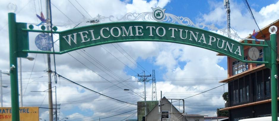 The sign welcoming visitors to Tunapuna.   PHOTO COURTESY TPRC