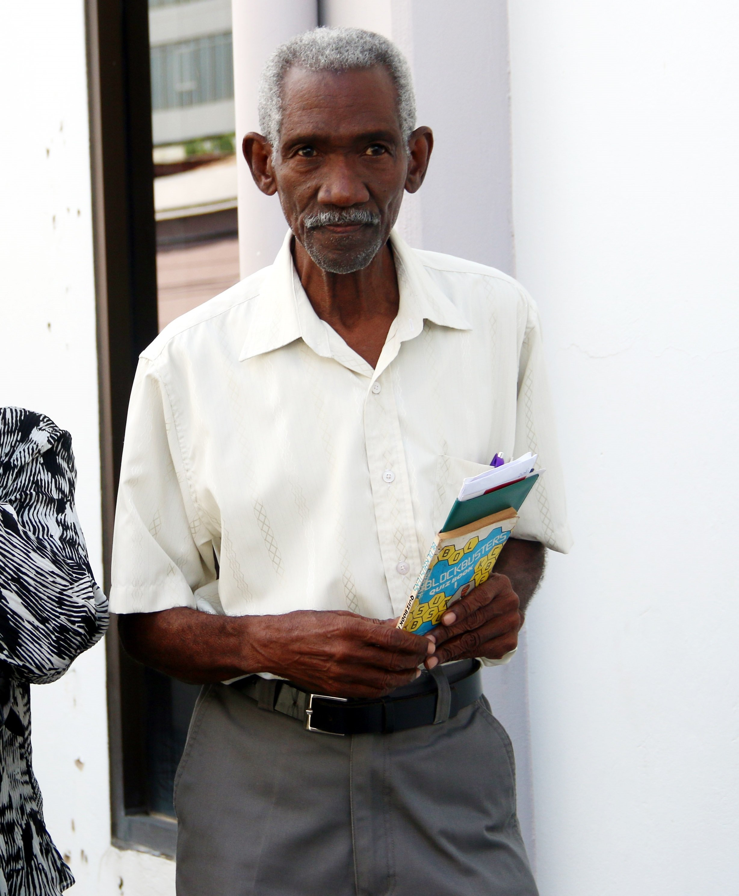 TESTIFIED: Carlton Cato, 84, one of three men who testified yesterday in the San Fernando Magistrates Court at the start of a PI into fraud charges against Vicky Boodram and her former husband Ravi Arjoonsingh. PHOTO BY ANSEL JEBODH