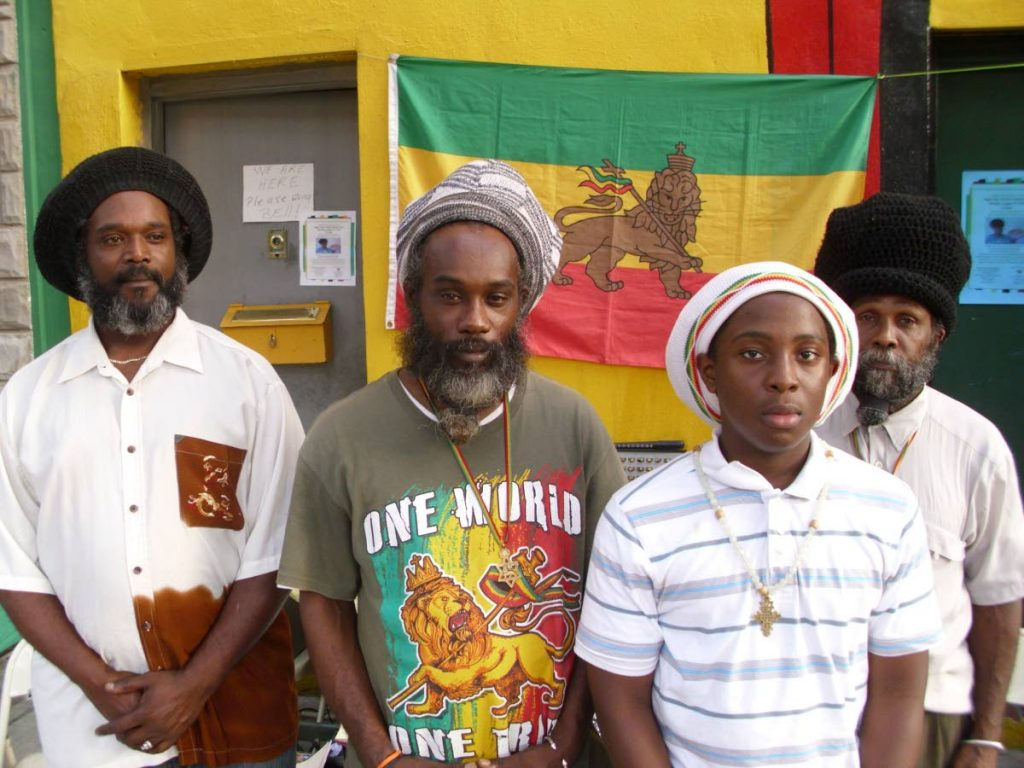 Members of the Church of Haile Selassie I.