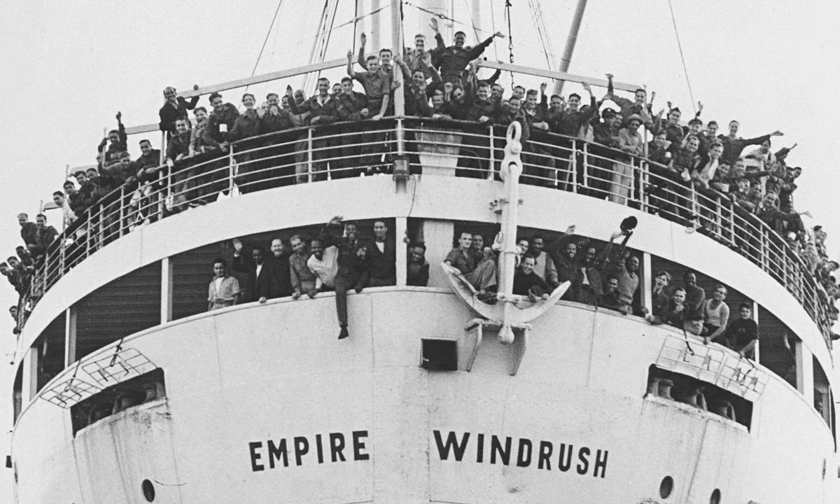 Hundreds of West Indians, among other immigrants, sailed to Britain on the MV Empire Windrush in 1948.
