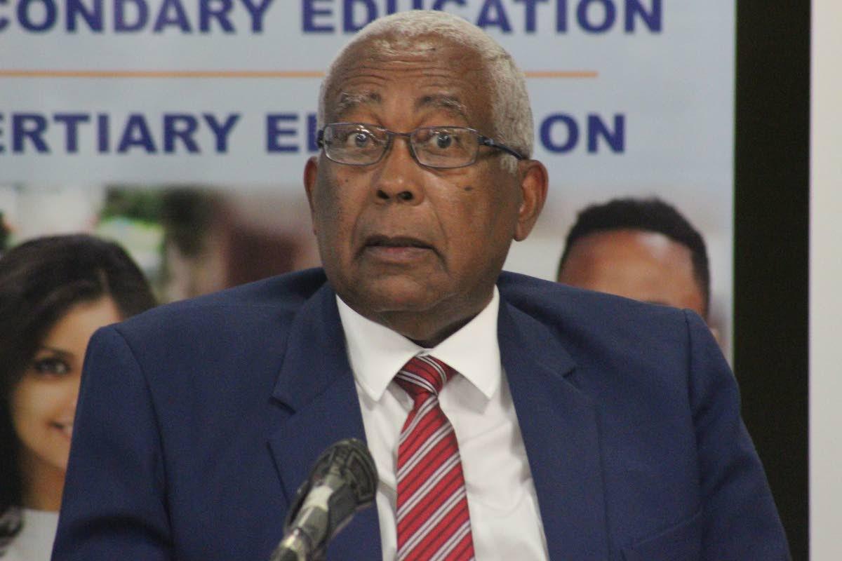 Edcuation Minister Anthoney Garcia