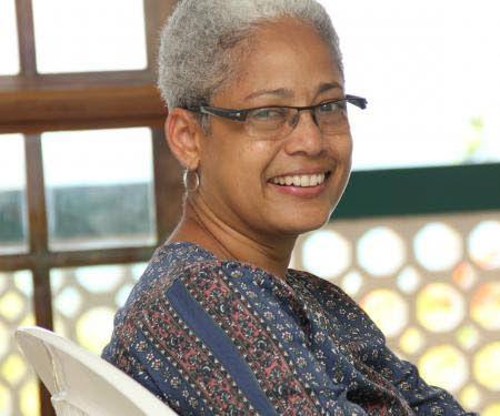 Jennifer Rahim, winner of the 2018  OCM Bocas prize for Caribbean Literature