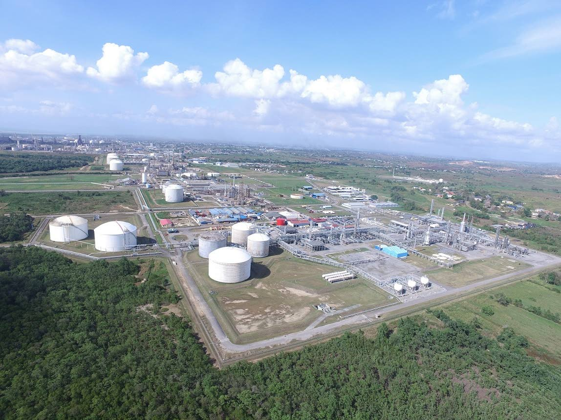 Aerial View of the Point Lisas Industrial Estate, Pt Lisas, Couva. PHOTO COURTESY THE NATIONAL GAS COMPANY OF TT LTD (NGC).