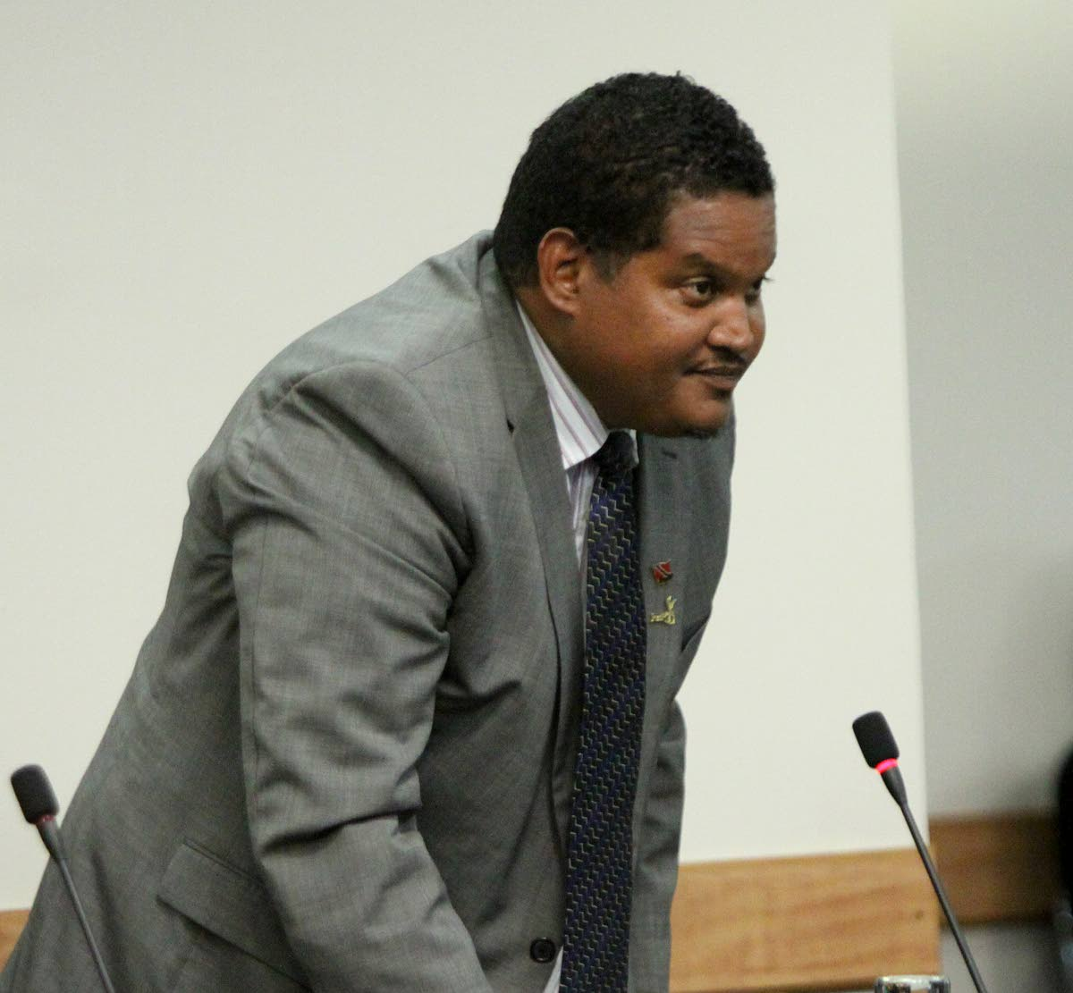 OUT: Former Sport and Youth Affairs Minister and Minister in the Ministry of Housing Darryl Smith at Monday's sitting of Parliament.