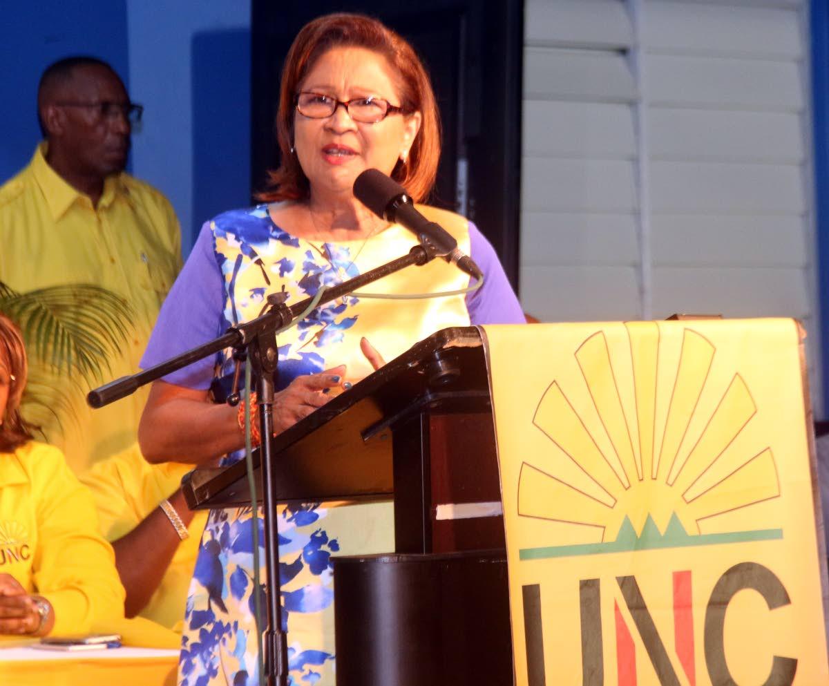 Opposition leader and UNC political leader Kamla Persad-Bissessar.