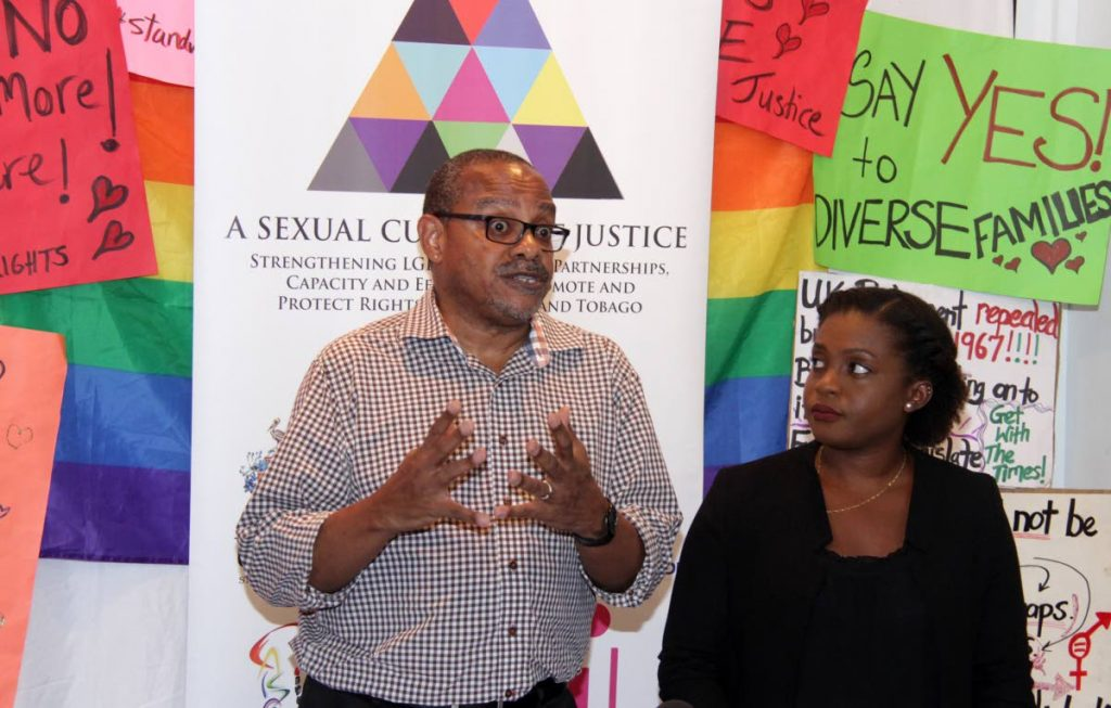 Collin Robinson CAISO Chairman and Leah Thompson Attorney at Law  LGBT Community Activist. Photo: Roger Jacob