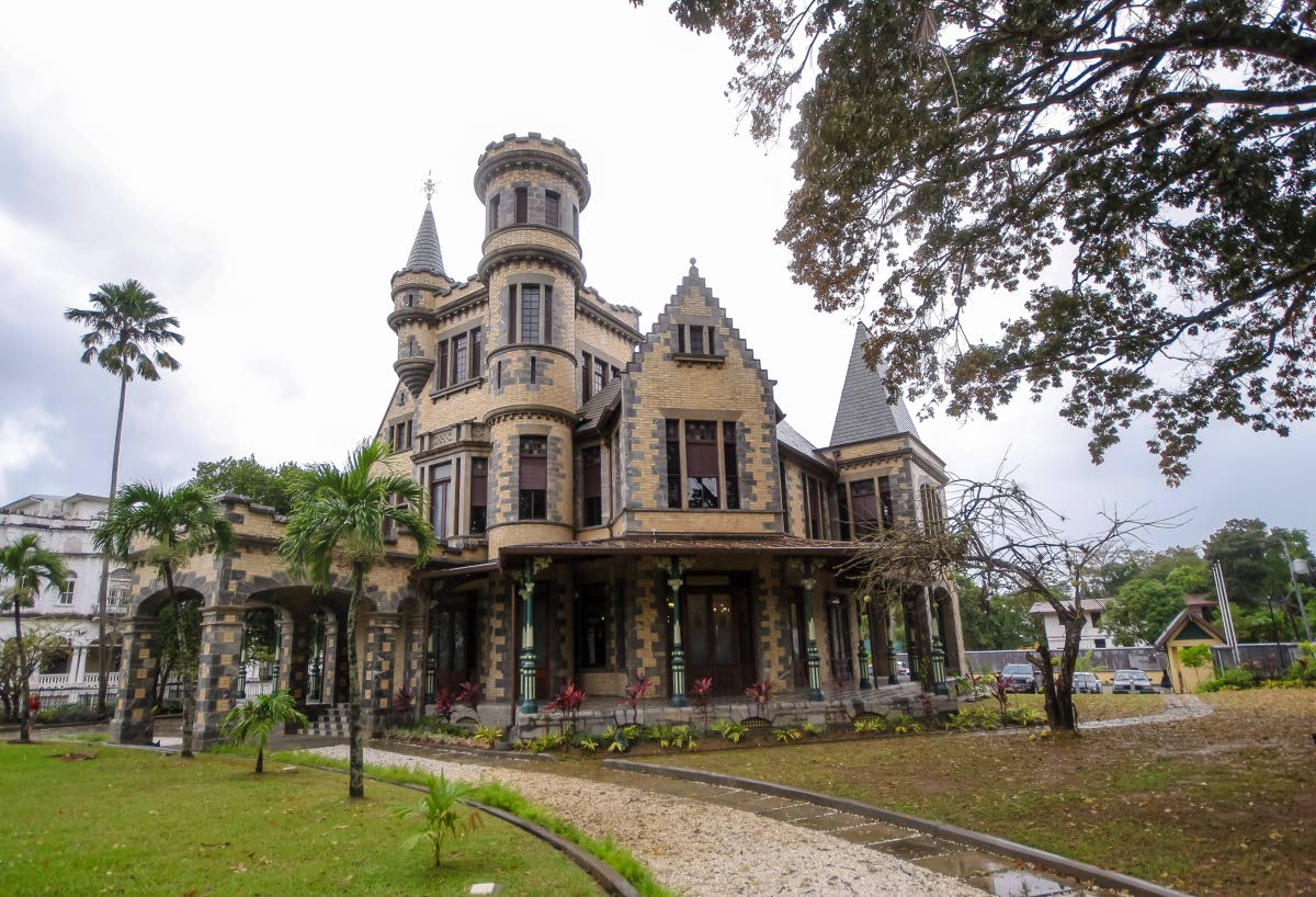 Stollmeyer's Castle, Queen's Park Savannah west, Port of Spain has been completely restored and would be used as an arts and cultural centre. Photo by Jeff K Mayers