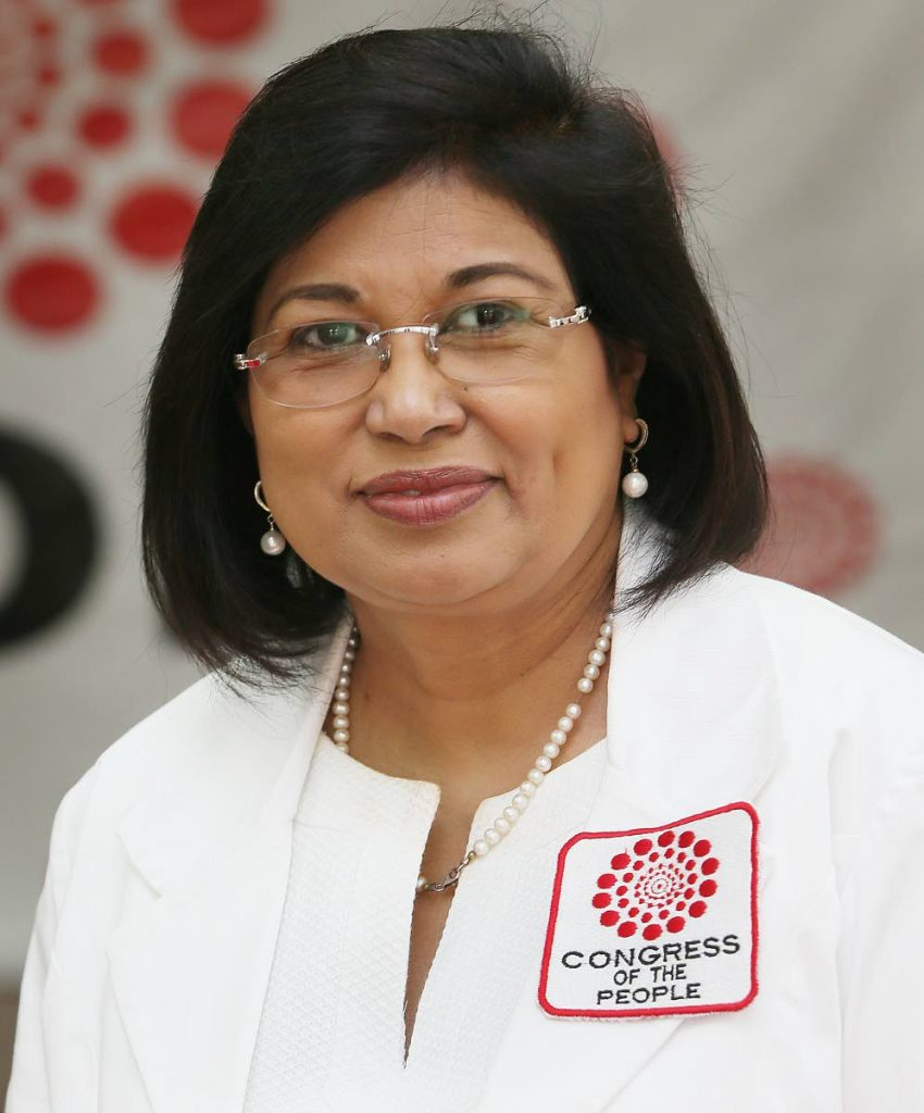 COP political Leader Carolyn Seepersad-Bachan PHOTO BY AZLAN MOHAMMED