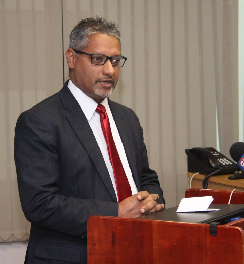 Minister of Agriculture, Land and Fisheries, Clarence Rambharat. Photo: Angelo Marcelle