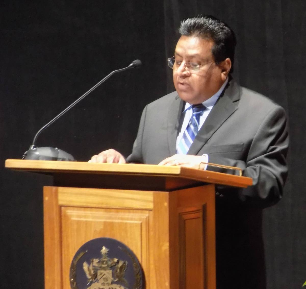 Chief Education Officer Harrilal Seecharan during a function at NAPA, Port of Spain in 2017. FILE PHOTO