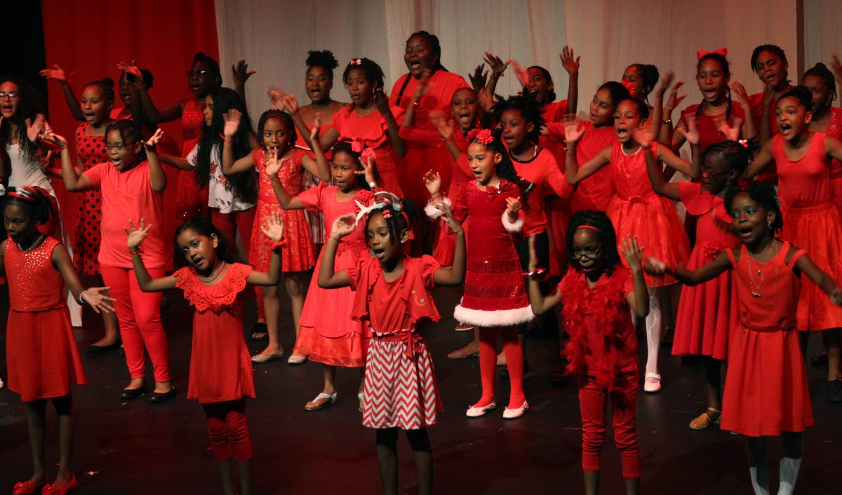 Newtown Girls' RC Shool students perform in  Trini Christmas Magic - A Children's Extravaganza at Little Carib Theatre on December 18, 2017. PHOTO BY ROGER JACOB