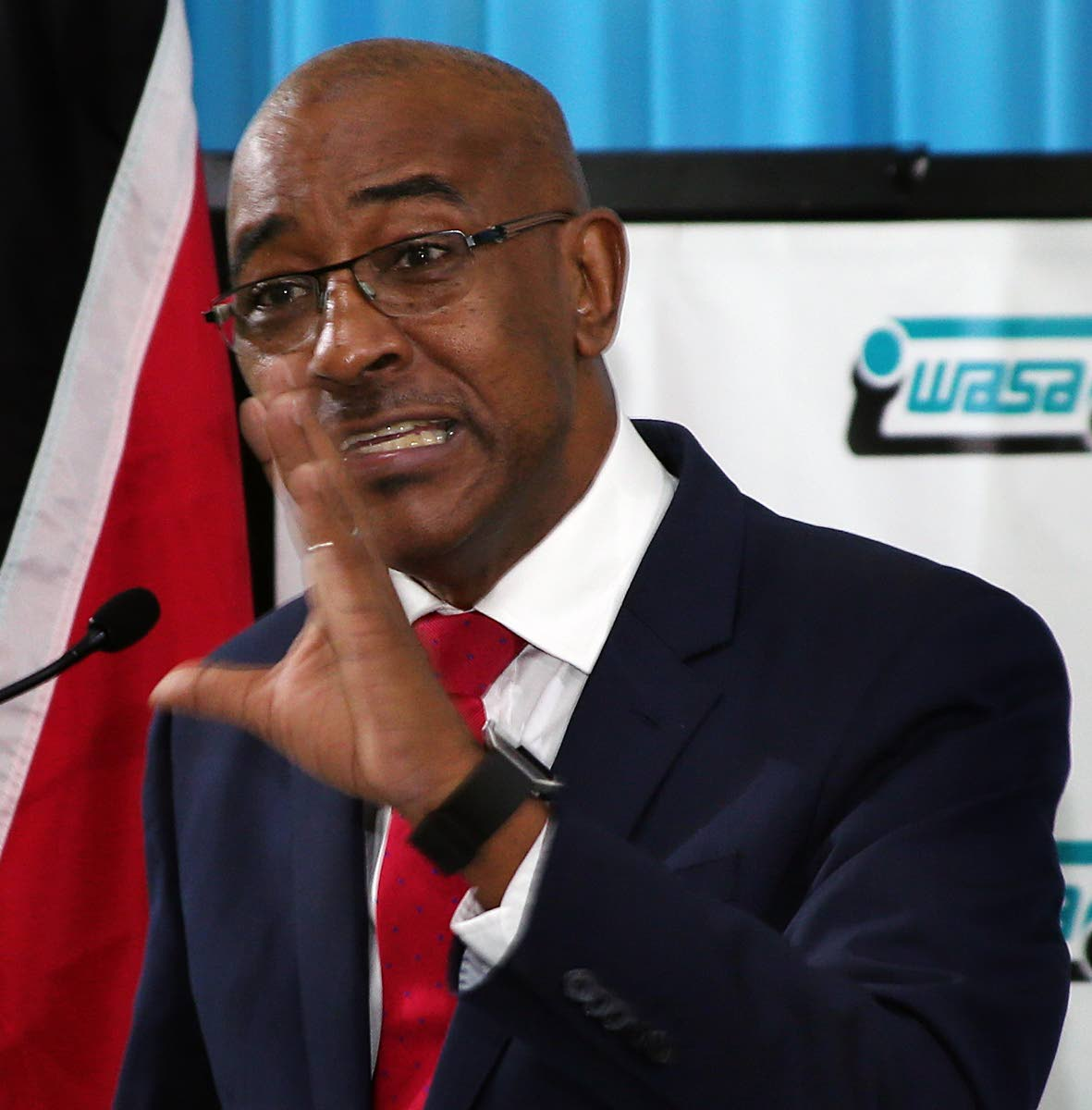 Minister of Public Utilities Robert Le Hunte