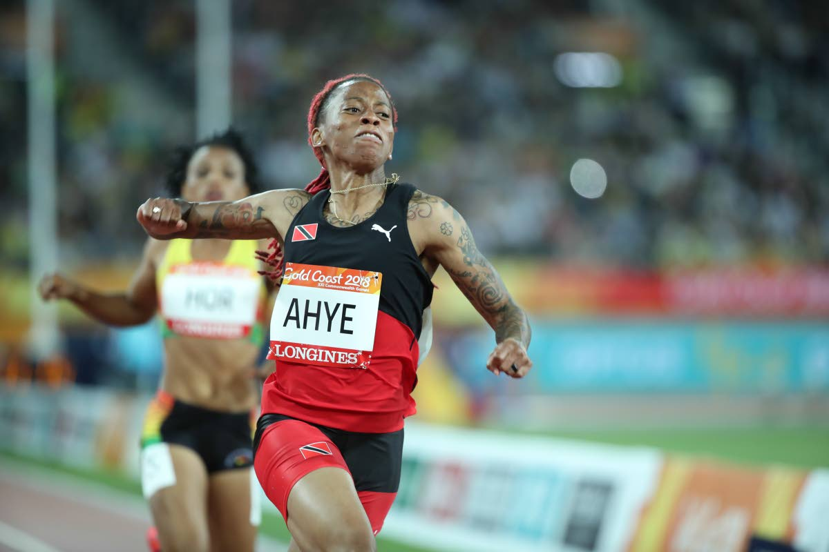 Trinidad and Tobago's Michelle-Lee Ahye wins gold in the 100m event at the Commonwealth Games at Carrara Stadium, Gold Coast, Australia, last month.
