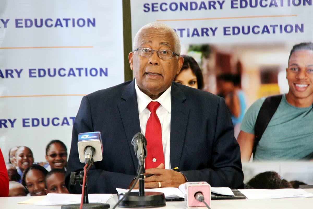 Education Minister Anthony Garcia.