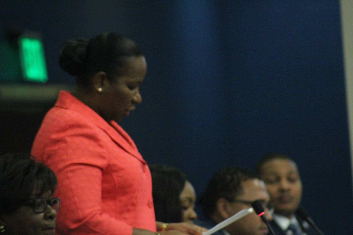 Minister Cherrie-Ann Critchlow-Cockburn.