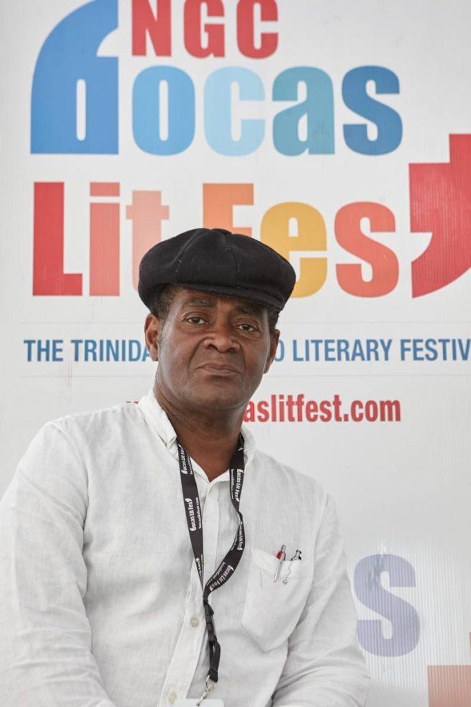 Jacob Ross at an NGC Bocas LitFest event