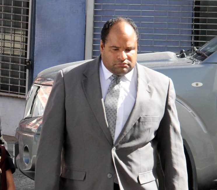 High Court Judge Kevin Ramcharan outside the Port of Spain magistrate  court. Photo: Sureash Cholai
