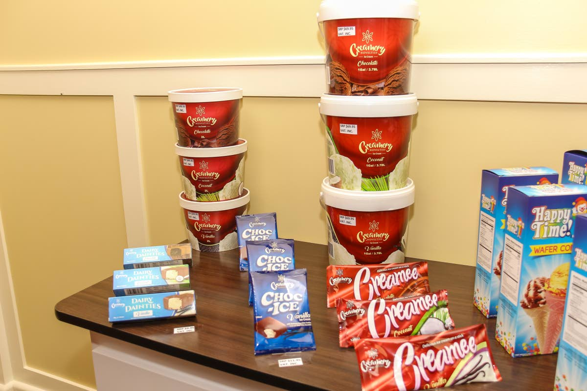 A range of items manufactured by  Creamery Novelties Limited. Photo by Jeff K Mayers