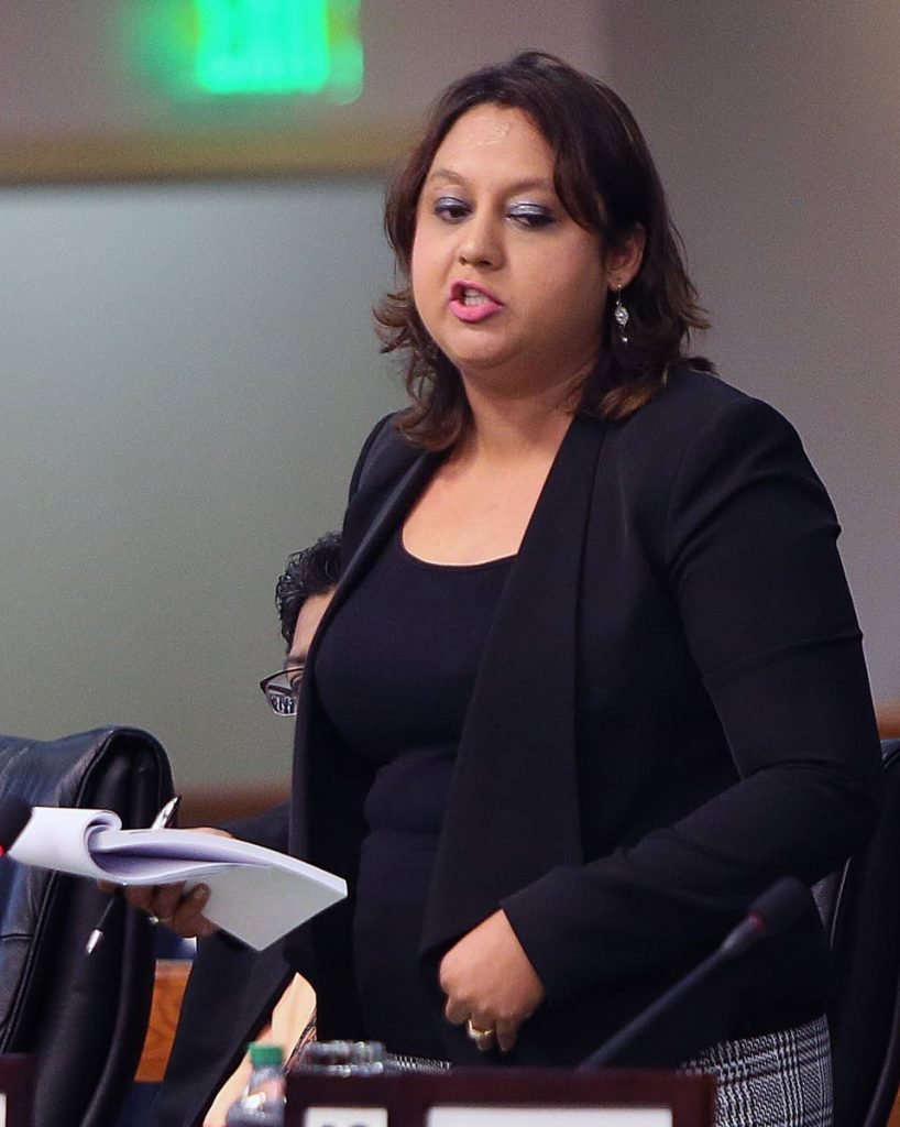 MP for Couva North Ramona Ramdial in the lower house PHOTO BY AZLAN MOHAMMED