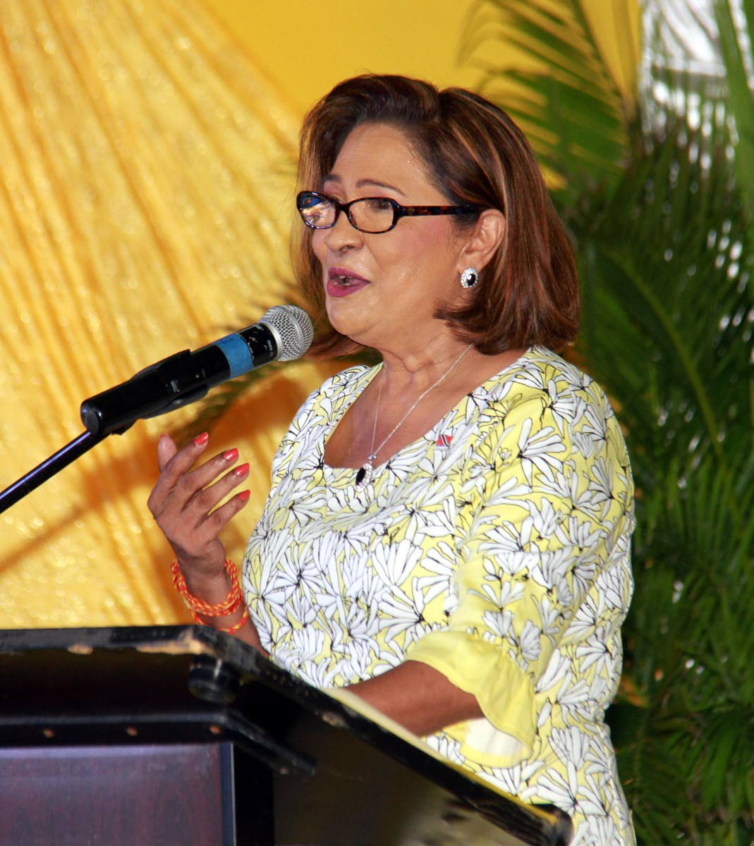 UNC political leader Kamla Persad Bissessar. PHOTO BY ANIL RAMPERSAD.