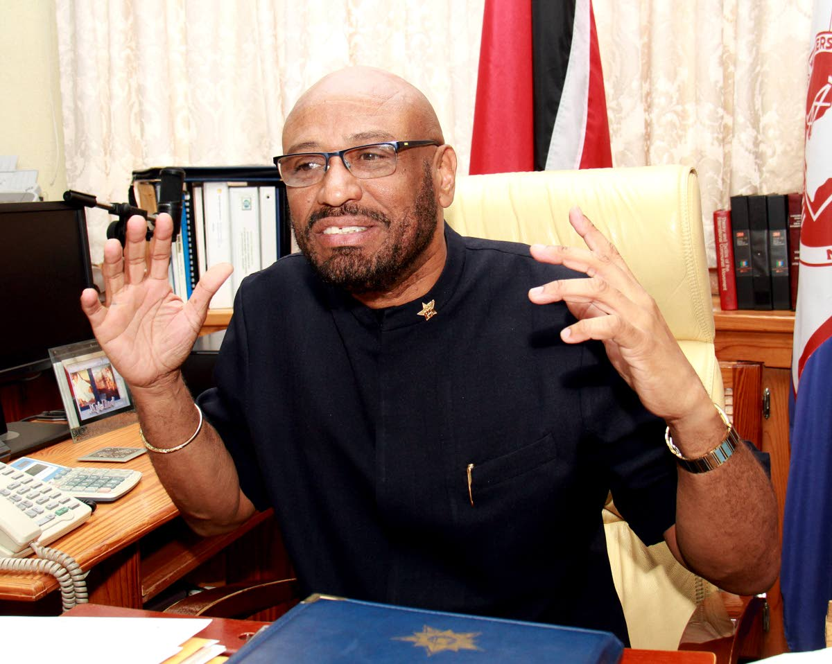 President General of the OWTU Ancel Roget. PHOTO BY ANIL RAMPERSAD