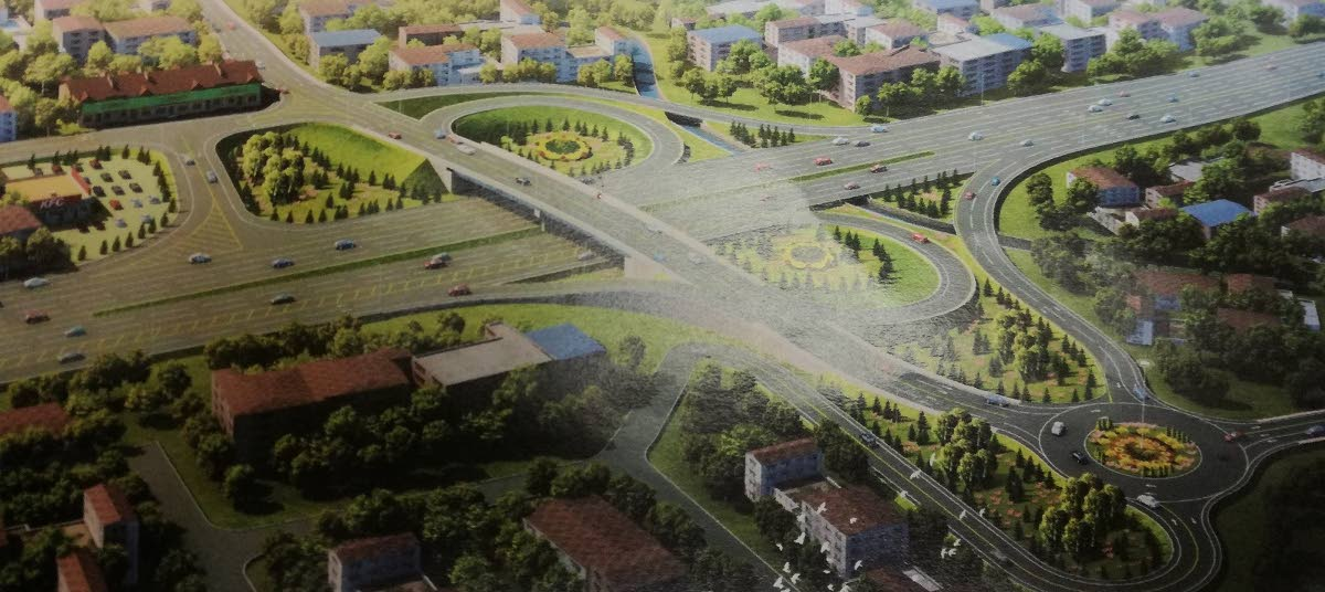 An artist's impression of the Curepe Interchange.