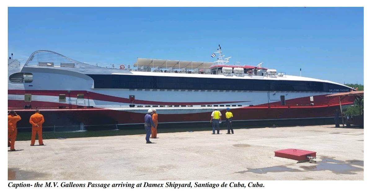 The MV Galleons Passage arriving at Damex Shipyard, Santiago de Cuba, Cuba on May 26, 2018 to being planned retrofitting works.