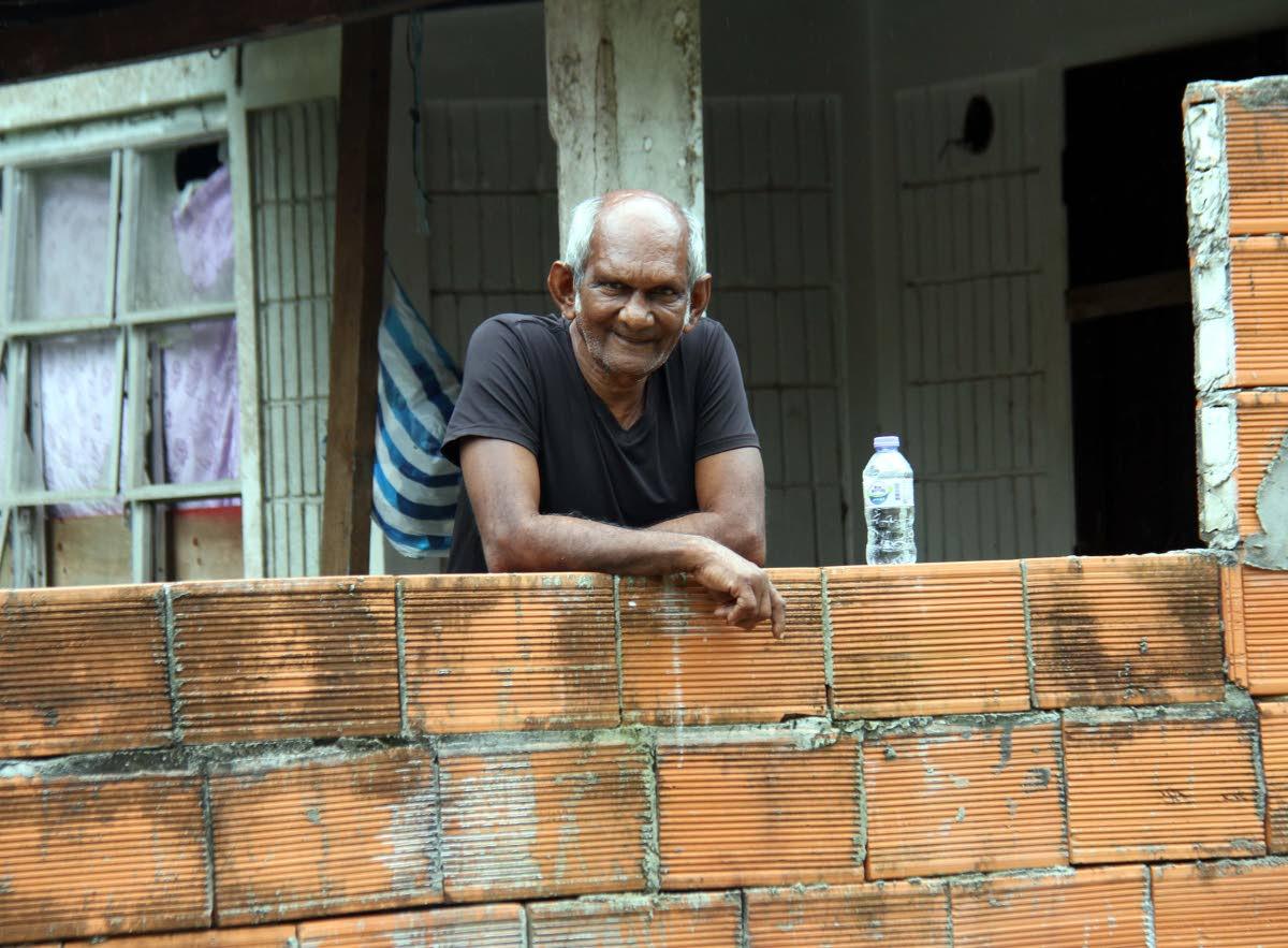 ROBBED: Pensioner Carl Ramrattan at his San Pedro Branch Trace,  Rio Claro home.