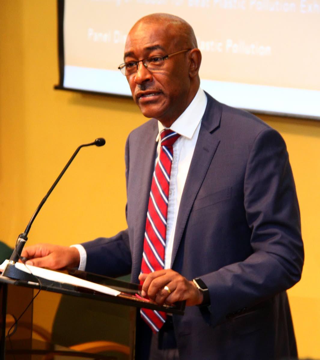 File photo: Public Utilities Minister Robert Le Hunte. Photo: Roger Jacob