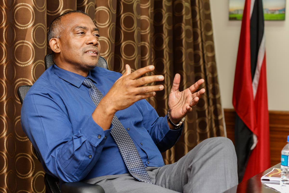 File photo: Housing Development Corporation (HDC) managing director Brent Lyons, at his Port of Spain office.  PHOTO BY JEFF K MAYERS.