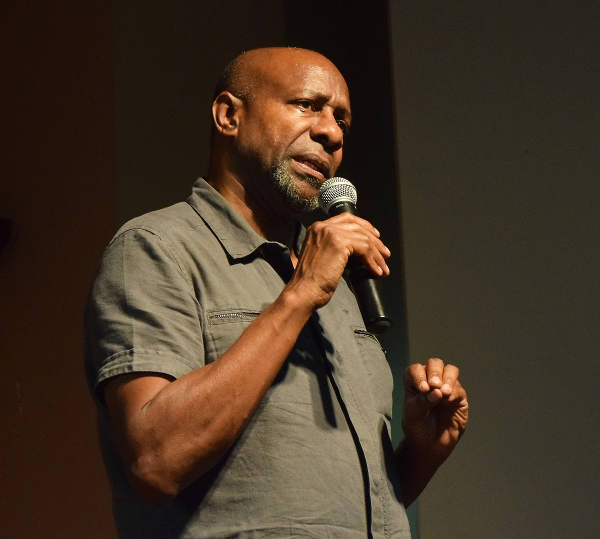 Comedian Errol Fabien recounts his becoming a drug addict and his journey of recovery at a  talk-shop, 'An evening with Errol Fabien' at the Lambeau Multipurpose Centre on Sunday.