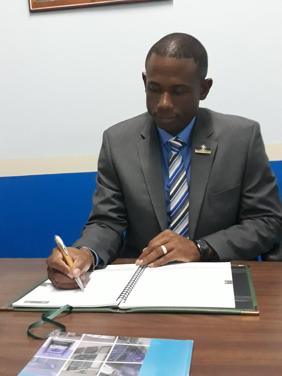 Andre Alexander, Branch Manager of the Police Credit Union, Tobago.
