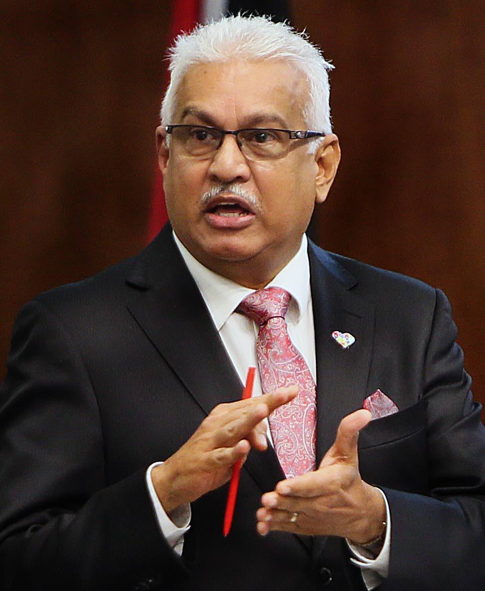 Health Minister  Terrance Deyalsingh