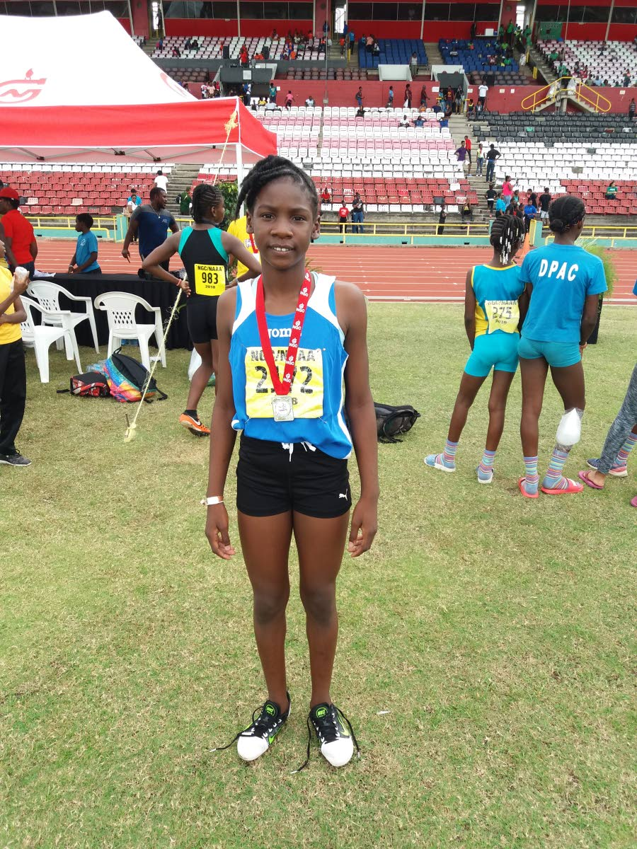Janae De Gannes, of Zenith, won four gold medals at the National Juvenile Championships, on June 16 and 17, at the Hasely Crawford Stadium, Port of Spain.