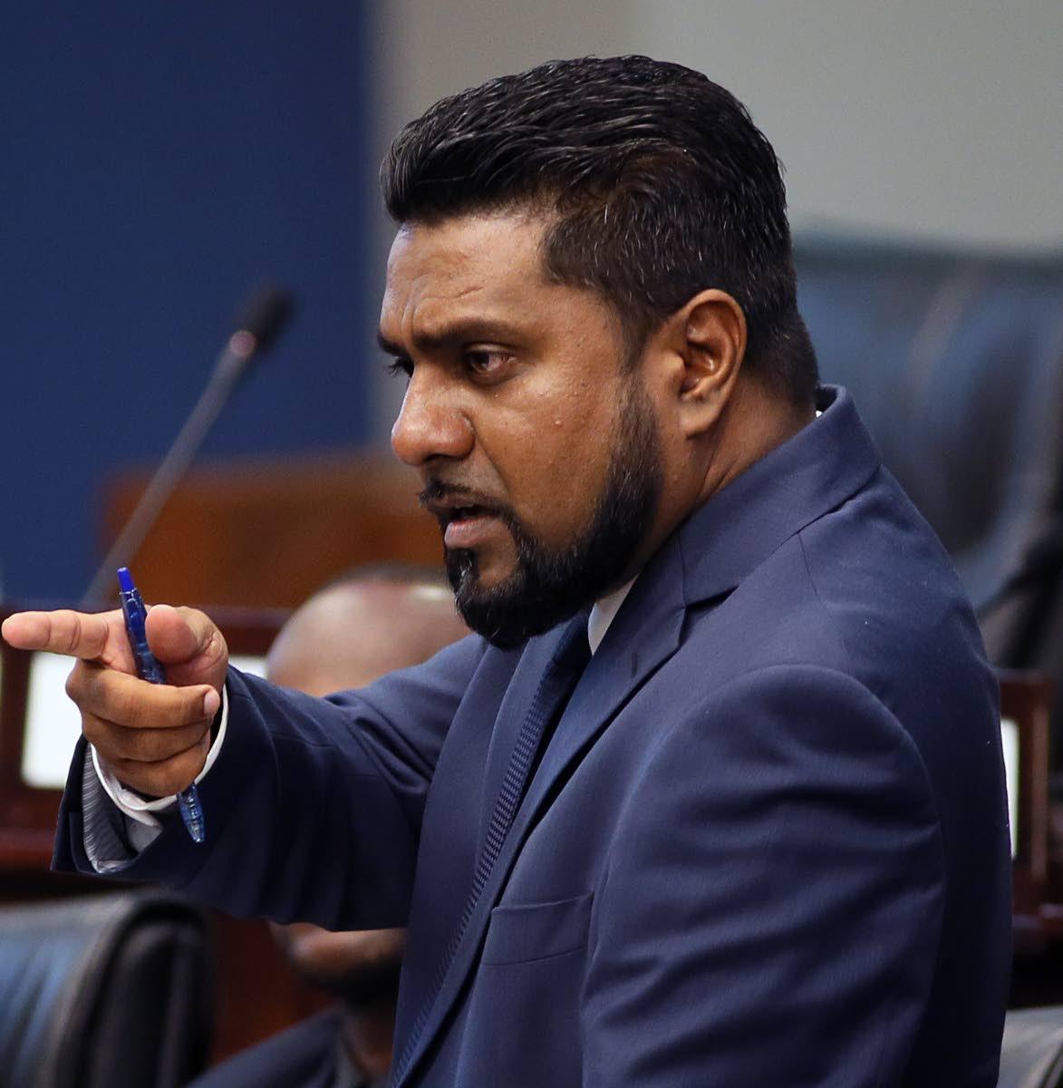 Opposition Senator Gerald Ramdeen