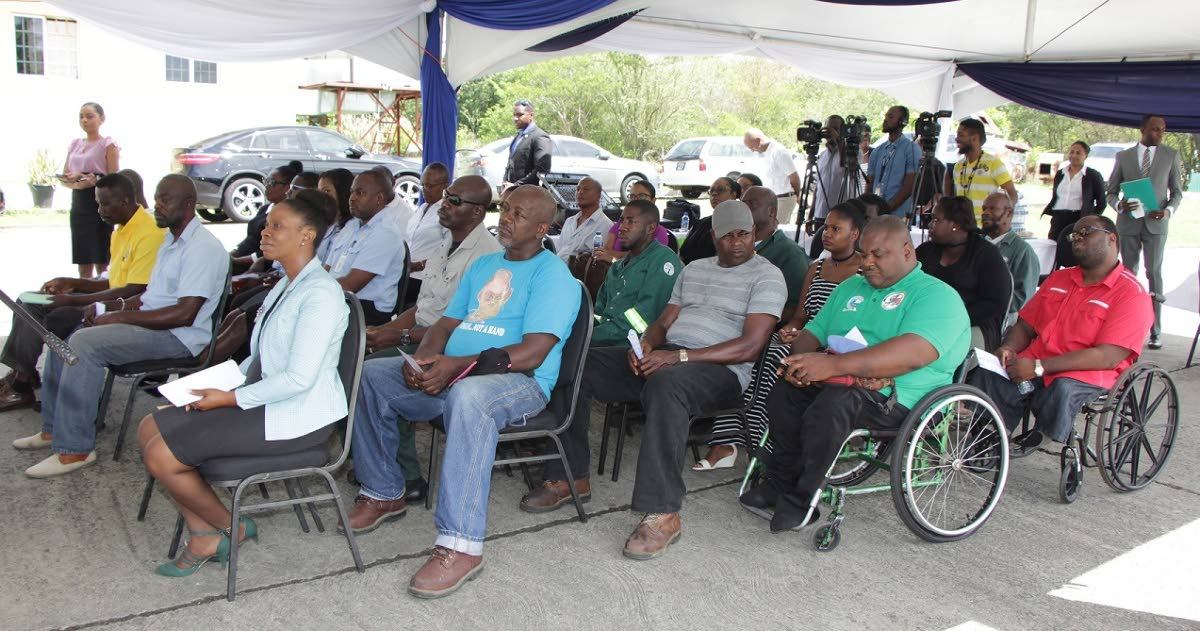A cross section of the attendees at the Vehicle Commissioning Ceremony on Friday at the Public Heath compound in Signal Hill.