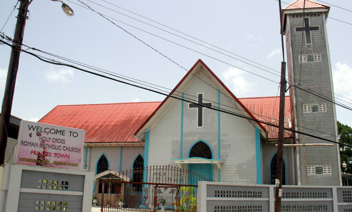 The  Holy Cross RC Church of Princes Town where their Soup Kitchen situated at the back of the church was robbed of their goods and kitchen appliances. PHOTO BY ANIL RAMPERSAD.