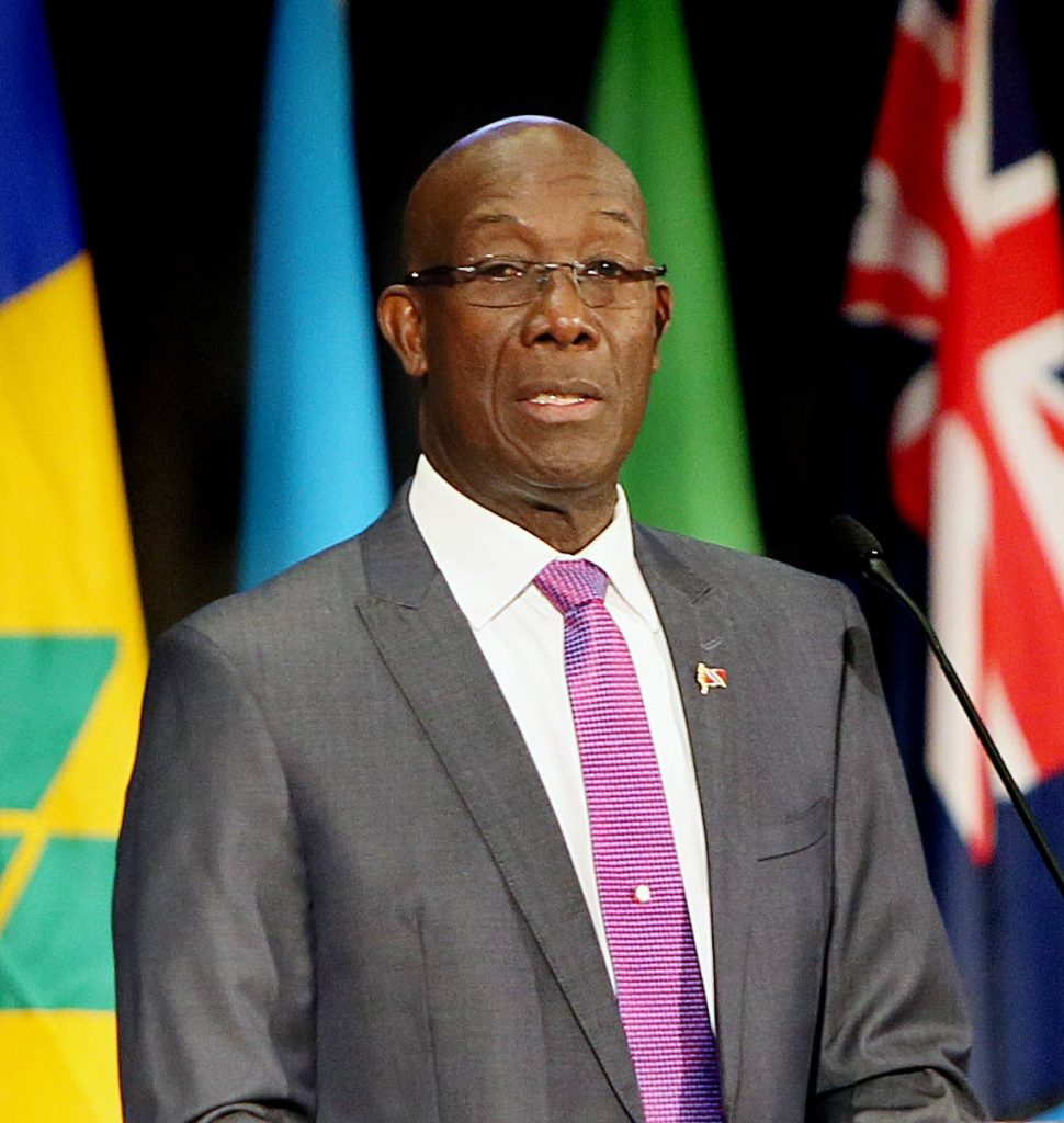 PM Dr Keith Rowley  Photo by Azlan Mohammed