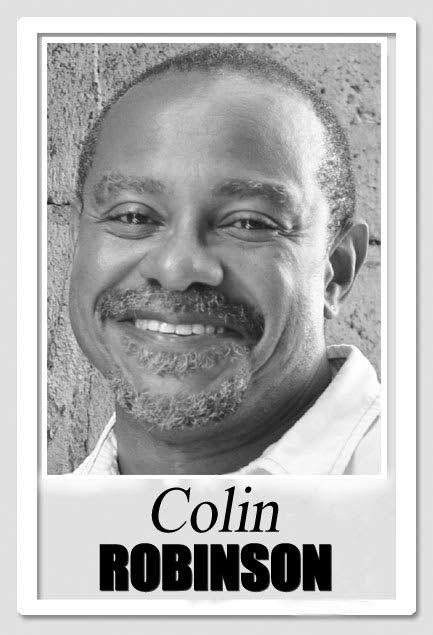 Sunday columnist Colin Robinson