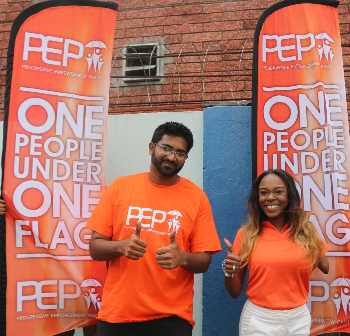 PEP Belmont East Felicia Holder and Barataria candidate Christoph Samlal