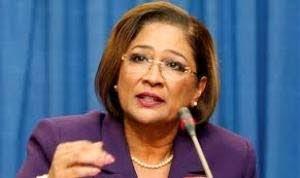 Opposition Leader Kamla Persad-Bissessar