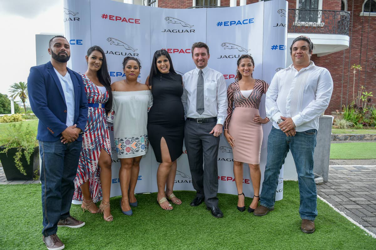 The Trafalgar Motors sales team. From left are Christopher Lalla, Shandi Silochan, Krystal Woo, Vayu Piper, Scott Phillips, Maria Gonsalves and Blaine Moze.