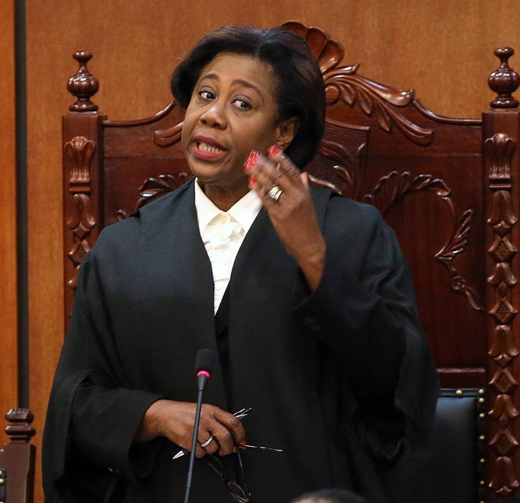 House Speaker Bridgid Annisette-George