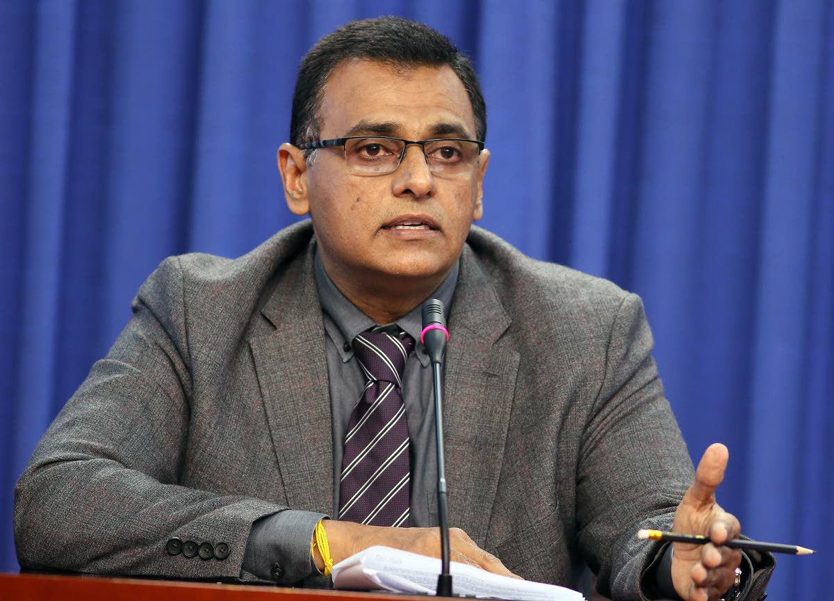 File photo: Minister of Works Rohan Sinanan at the post cabinet media briefing held at the Diplomatice Centre St Anns PHOTO BY AZLAN MOHAMMED