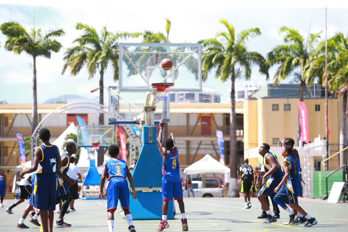Action at the inaugural Spartans Basketball Fiesta, at the Jean-Pierre Complex, Port of Spain, last year.