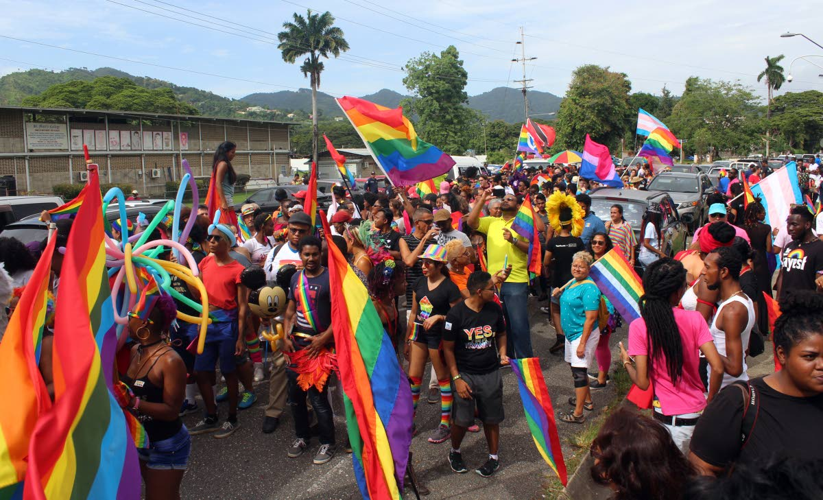 File photo: Members of the LGBTQI community and well wishers parade in celebration of gay pride.